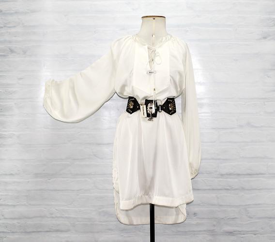 Vestido Amplo Moikana Off White Original Frete Grátis