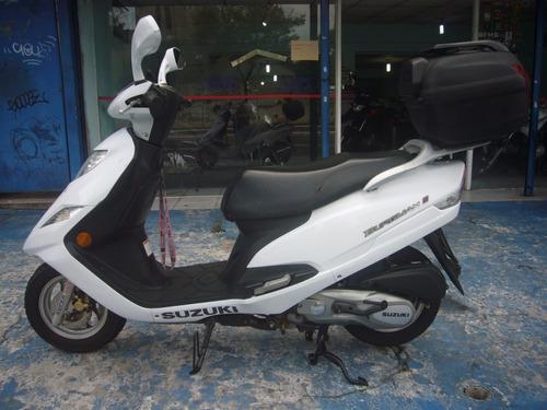 Suzuki Burgman 125 I Ano 2014 Branca Troca Financia