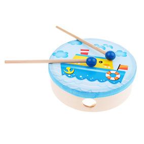 Cilindro De Madeira Com Instrumento Educacional Musical Brin