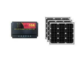 Kit 3 Painel Placa Solar 30w E 1 Controlador De Carga 10a