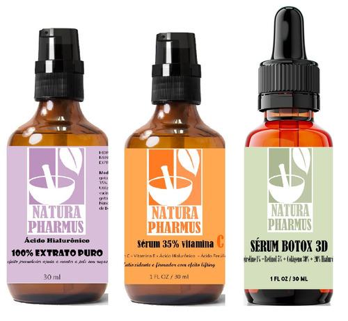 Imagem 1 de 1 de Kit Retinol 5%+hialurônico 100%+vitamina C35% - Natur