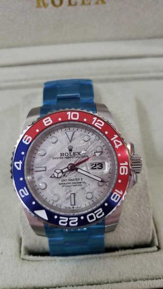Relógio Rolex Gmt Master Ii Automático Fundo Branco