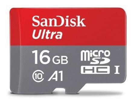 Sandisk Micro Sdhc Memória Cartão Com Cartão Manga 16 Gb