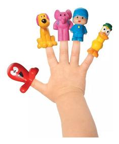 Kit Pocoyo Miniaturas 5 Bonecos Dedoches Cardoso Brinquedos