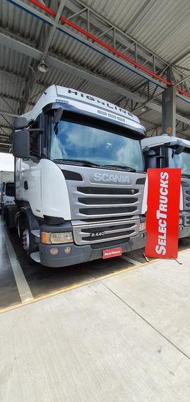 Scania R440 6x4 2015 Canelinha Opticruise Highline Selectruc