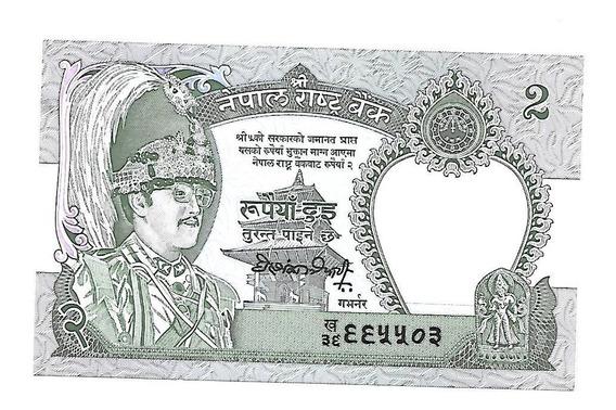 Liquido Excelente Billete De Nepal. 2 Rupias 1981 Unc