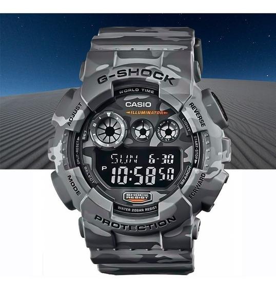 Relógio Casio G-shock Digital Gd-120cm-8dr Camuflado