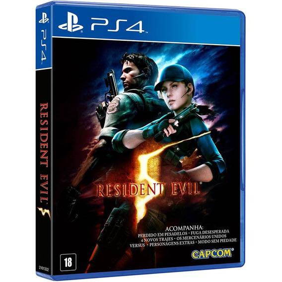 Jogo Resident Evil 5 Ps4 Mídia Física Lacrado Dvd Original