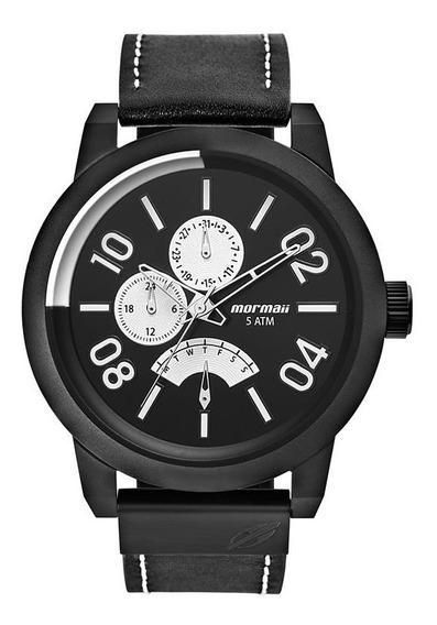 Relógio Mormaii Masculino Ref: Mojr10aa/2p Multifunção Black