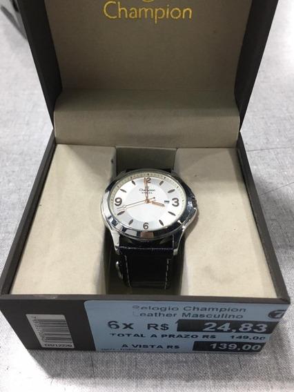 209-relógio Masculino Ca21222q Prata Q C - Champion + Nf