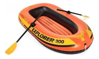 Bote Explorer 300 Inflável Intex Até 186kg - Par Remos Bomba