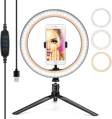 Ring Light 10  26cm Iluminação Profissional Led Selfie Tripé
