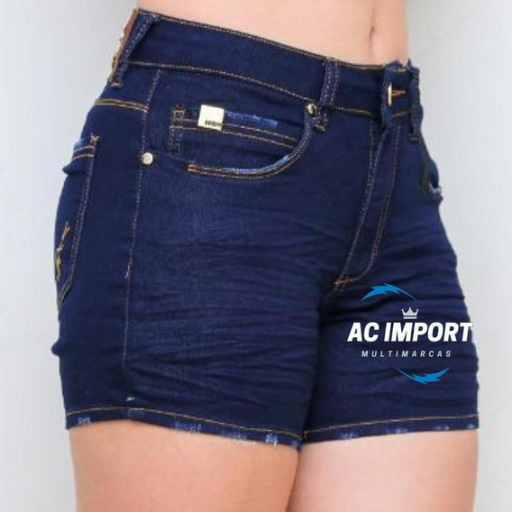 Bermuda Jeans Feminina C/ Lycra
