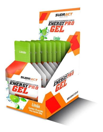 Caixa Energy Pro Gel 15 Sachê De 30g Limão Sudract Nutrition