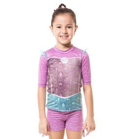 Uvline Camiseta Acqua Ariel Mc Infantil Proteção Solar