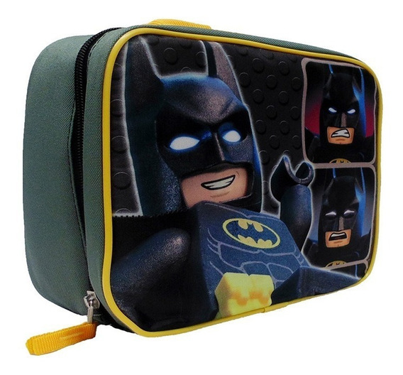 Lonchera Lego Para Niño Batman Forever Color Gris Con Negro