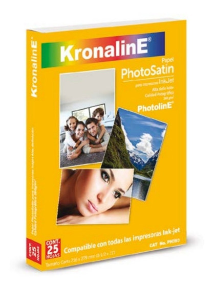 Papel Photosatin Inkjet Kronaline Ph393 Carta 25h Foto Satin