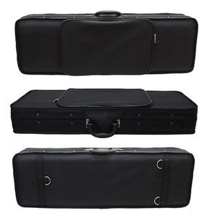 Estojo Case Retangular Azul Para Violino 3/4