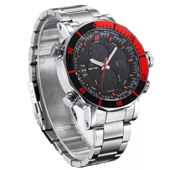 Relógio Masculino Weide Wh-5203 Anadigi Prata