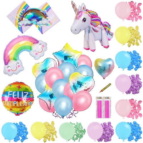 50 Art Unicornio 4d Caminante Candybar Cumple Globo Arcoiris