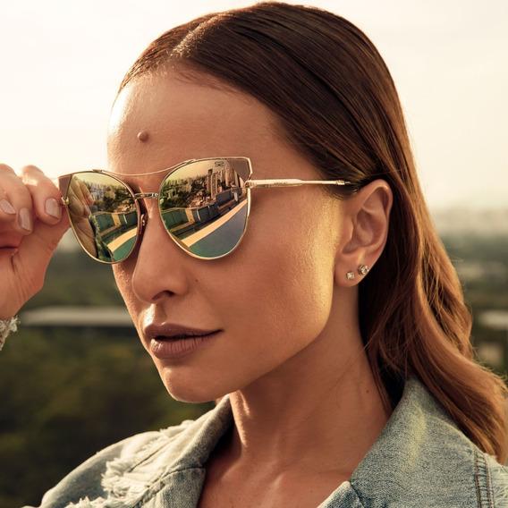 Óculos De Sol Feminino Espelhado Gatinho - Sabrina Sato