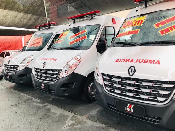 Nova Renault Master Ambulancia Uti L2h2 Ar Adaptado