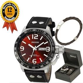 Kit Relógio Magnum Masculino Com Pulseira Ma31542z