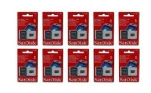 Kit 10 Cartao De Memoria Micro Sdhc 8 Gb Sandisk Original