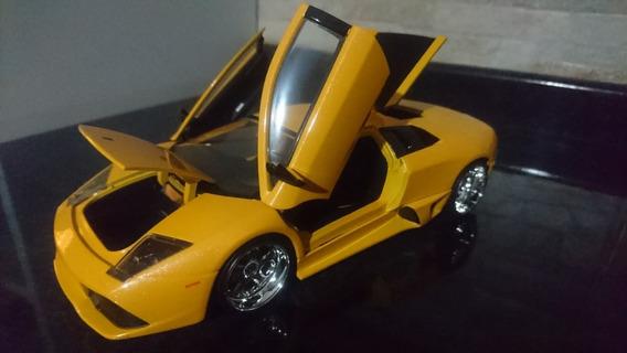 Lamborghini Murcielago Lp640 1:24 Jada Amarelo Metalico Raro