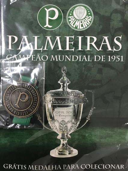 Revista Palmeiras Campeão Mundial 1951 Com Medalha ( Novo)