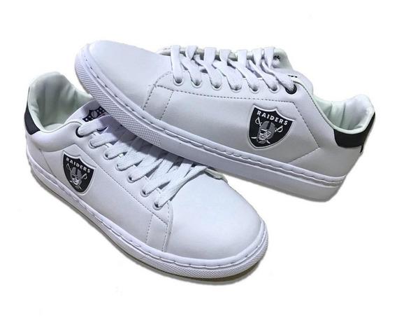 Tenis Sapatenis Oakland Raiders Nfl Branco