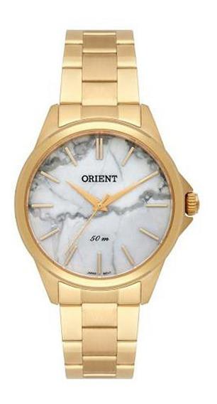Relogio Orient Fgss0120 B1kx Dourado Estilo Marmore Carrara