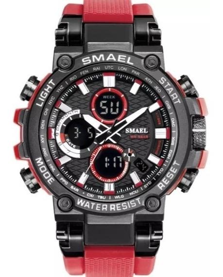 Relógio Masculino Smael 1803 Dual Display C/caixa