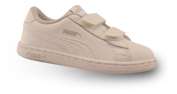 Zapatillas Puma Smash V2 Velcro Niño