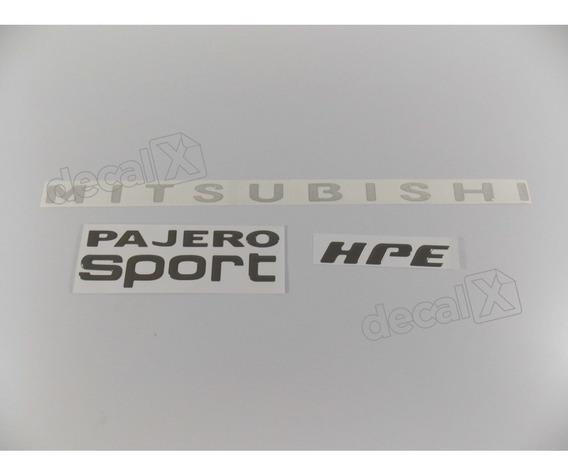 Kit Adesivos Pajero Sport Hpe Cinza Resinado Pjhpecz Fgc