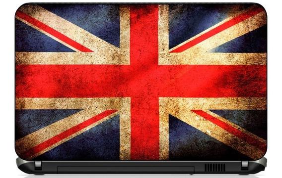 Adesivo Skin Notebook Macbook Bandeiras Inglaterra Brasil