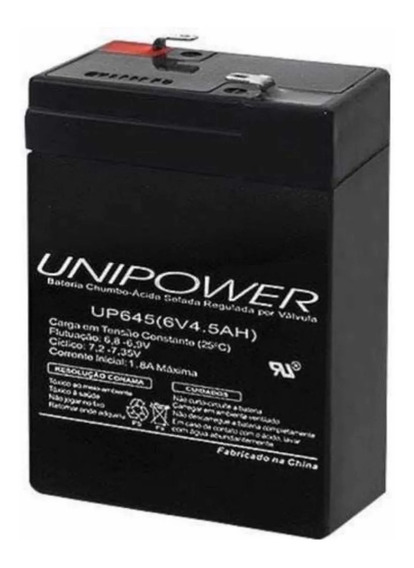 Bateria Selada 6v 4,5ah Para Moto Elétrica Bandeirantes