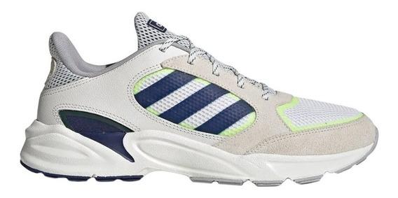 Zapatillas adidas 90s Valasion Casual Hombre Blanca / Azul