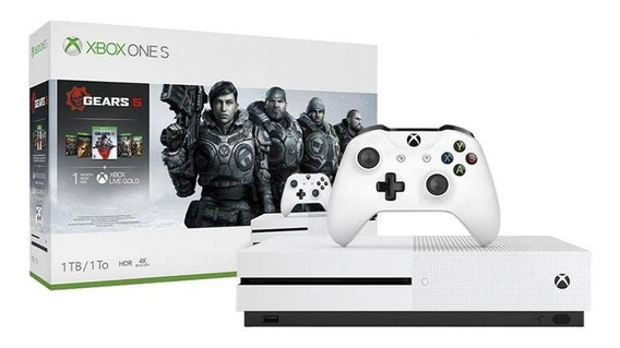 Console Xbox One S 1tb 5 Jogos Gears Of War Com Nota Fiscal