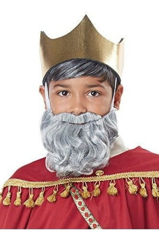 Imagen 1 de 1 de Disfraces De California Hombre Sabio Niño Barba Y Bigote (g