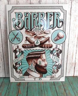 Cuadro Decorativo (barber Shop) Barbería 1pz 30x40