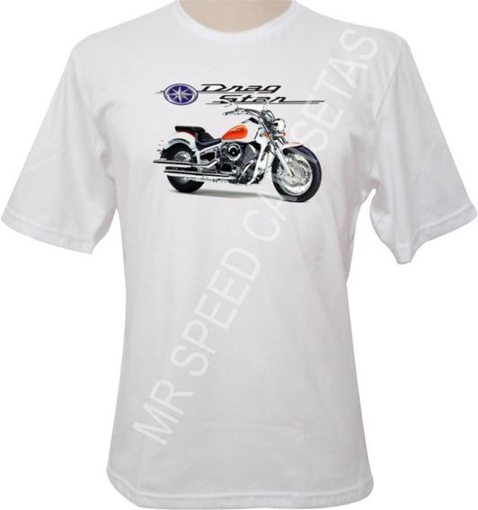 Camiseta Motocicleta Yamaha Drag Star Branca