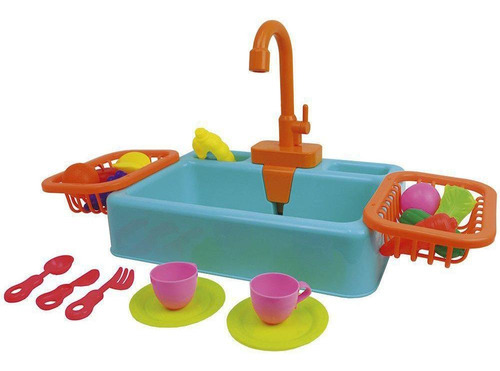 Brinquedo Pia De Cozinha Infantil Sai Água De Verdade Fenix