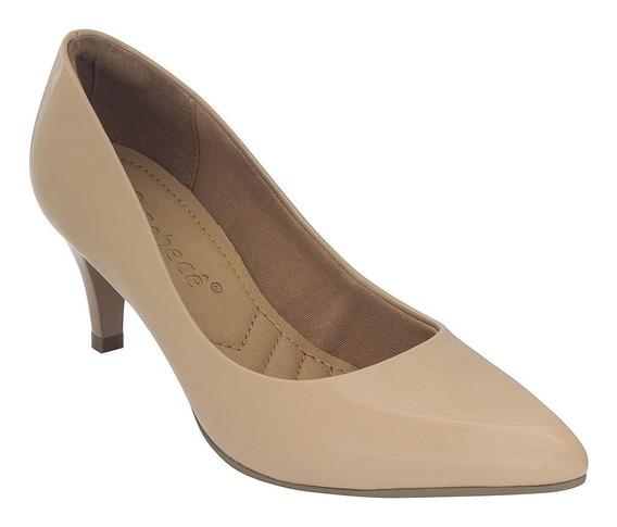 Sapatos Femininos Baratos Scarpin Bebecê Verniz Nude Spc