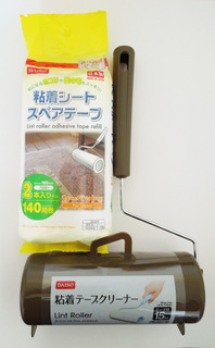 Kit Rolo Fita Adesiva - Suporte + Refil - 155 Folhas - Daiso Japan