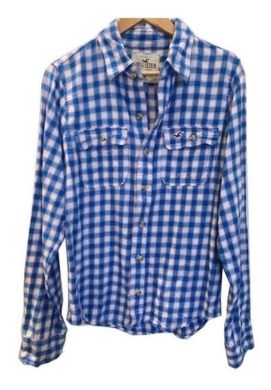 Camisa Cuadros De Hombre Talle L / M Hollister Usada