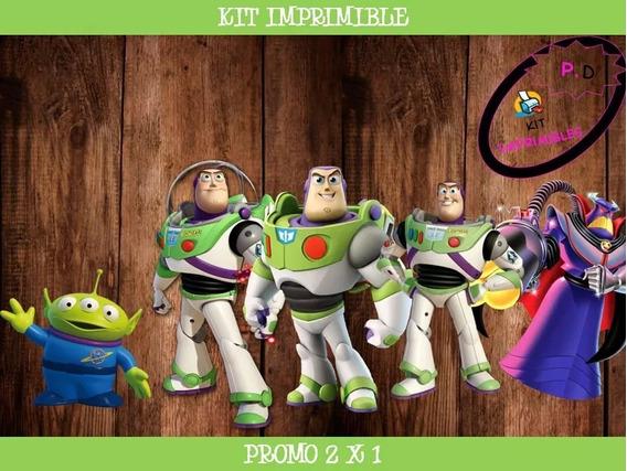 Kit Imprimible Buzz Lightyear Toy Story Cumple 2x1