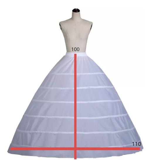 Anágua Saiote Para Vestido De Noiva Festas Debutante 6 Aros