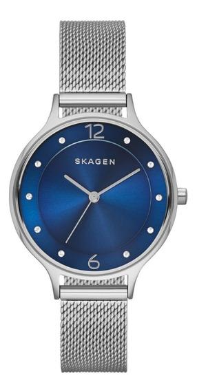 Reloj Dama Skagen Anita Skw2307 Color Plata De Acero