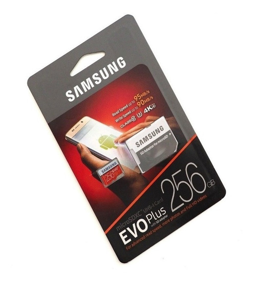 Cartão Samsung Micro Sdxc Evo Plus 256gb 100mb/s Sem Adpt